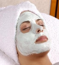 Woman with Face Mask - Facials